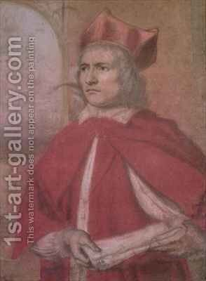 Portrait of Henry Harris as Cardinal Wolsey by Henry Greenhill - Reproduction Oil Painting