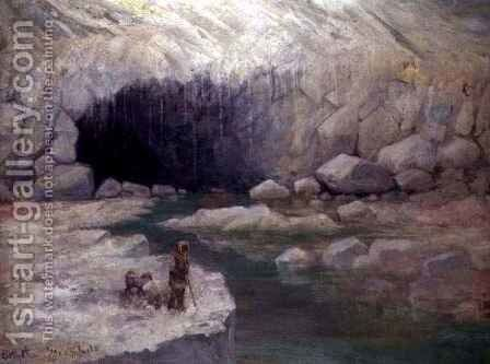 Antarctic Ice Cave by E.J.F. Greenfield - Reproduction Oil Painting