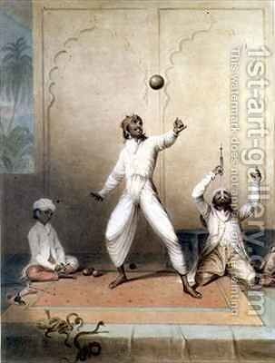 The Indian Jugglers by J. Green - Reproduction Oil Painting