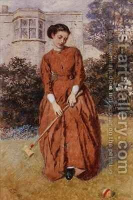The Croquet Player by Charles Green - Reproduction Oil Painting