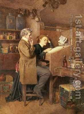 Grocer and wife by Charles Green - Reproduction Oil Painting
