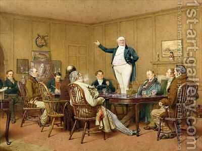 Mr Pickwick addressing his friends by Charles Green - Reproduction Oil Painting