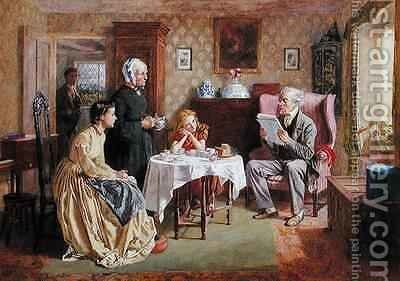 News from the War by Charles Green - Reproduction Oil Painting