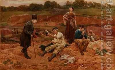 In The Brickfield by Charles Green - Reproduction Oil Painting