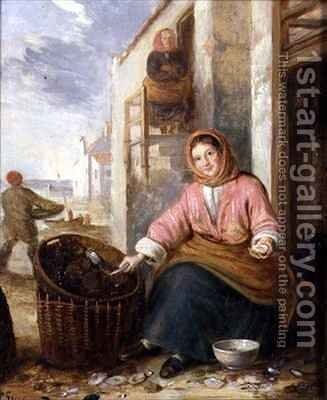Newhaven Fishwife by Alfred H. Green - Reproduction Oil Painting