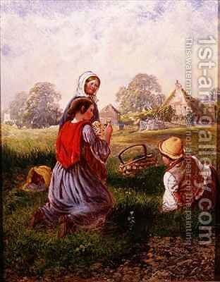 Picking Flowers by Alfred H. Green - Reproduction Oil Painting
