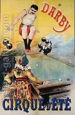 Poster advertising the Darby Cirque dEte by Henri (Boulanger) Gray - Reproduction Oil Painting