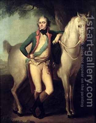 Prince Josef Anton Poniatowski 1763-1813 by his horse by Giuseppe or Josef Grassi - Reproduction Oil Painting