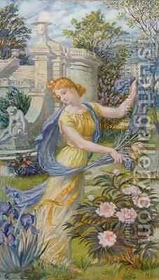 Allegory of Spring by Eugene Grasset - Reproduction Oil Painting