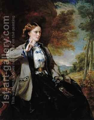 Portrait of the Hon Mrs Meynell Ingram by Sir Francis Grant - Reproduction Oil Painting