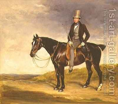 John Hay Mackenzie on his Dark Bay Cob by Sir Francis Grant - Reproduction Oil Painting