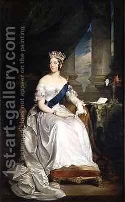 Queen Victoria by Sir Francis Grant - Reproduction Oil Painting