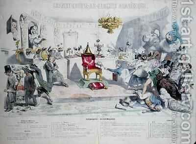 Grande Course au Clocher Academique by (Jean Ignace Isidore Gerard) Grandville - Reproduction Oil Painting