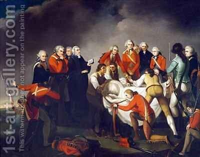 The Burial of General Simon Fraser 1729-77 after the Battle of Saratoga in 1777 by (after) Graham, John - Reproduction Oil Painting