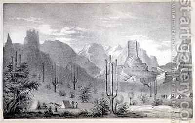 Chain of Natural Spires on the Gila by C.B. Graham - Reproduction Oil Painting