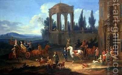 A Ride in the Country by Johann Andreas Graff - Reproduction Oil Painting