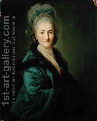 Portrait of an Old Woman by Anton Graff - Reproduction Oil Painting