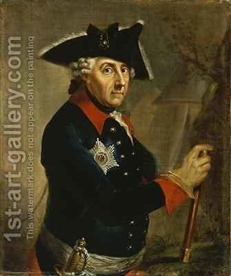 Frederick II the Great of Prussia by Anton Graff - Reproduction Oil Painting