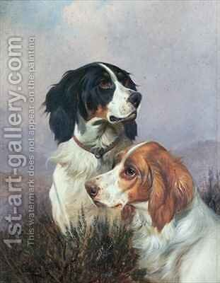 Setters on a Moor by Colin Graeme - Reproduction Oil Painting