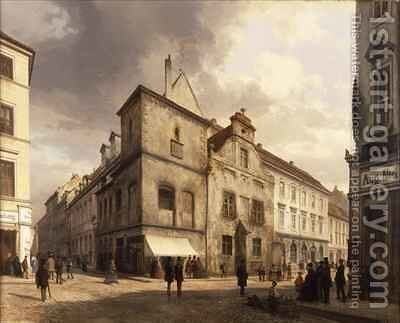 Old Berlin City Hall by Carl Georg Anton Graeb - Reproduction Oil Painting