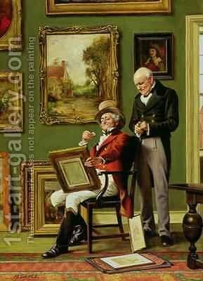 The Discerning Collector by Arthur Longlands Grace - Reproduction Oil Painting