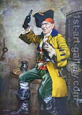A Pirate Type by Arthur Longlands Grace - Reproduction Oil Painting