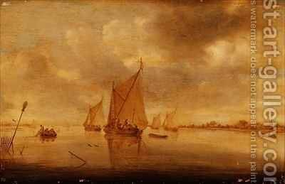 View of the River Maas by Jan van Goyen - Reproduction Oil Painting