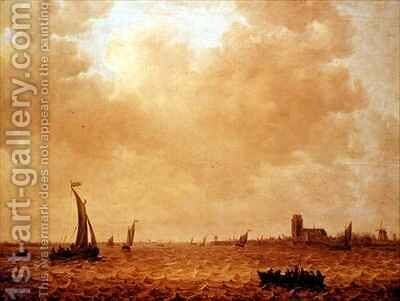 View of the Old Maas Dordrecht by Jan van Goyen - Reproduction Oil Painting