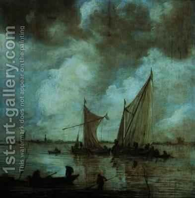 Stormy Seascape by Jan van Goyen - Reproduction Oil Painting
