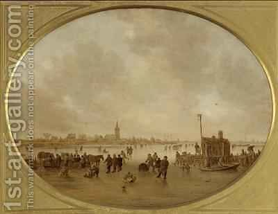 Winter on the River 2 by Jan van Goyen - Reproduction Oil Painting