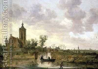 Hofstede Arnestein with Middelburg in the Distance by Jan van Goyen - Reproduction Oil Painting