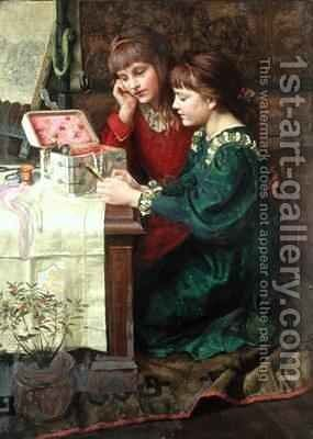 The Sewing Box 2 by Mary L. Gow - Reproduction Oil Painting