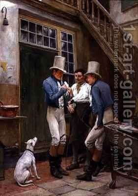 The Final Preparation for the Hunt by Andrew Carrick Gow - Reproduction Oil Painting