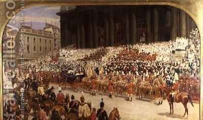 The Queens Diamond Jubilee by Andrew Carrick Gow - Reproduction Oil Painting