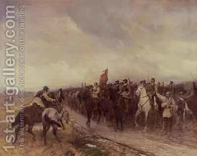 Cromwell at Dunbar by Andrew Carrick Gow - Reproduction Oil Painting