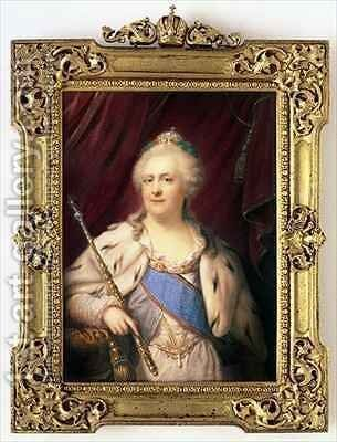 Catherine II Empress of Russia by Johann Baptist Gostl - Reproduction Oil Painting