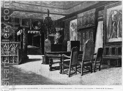 Homes of Victor Hugo the lounge at Hauteville house in Guernsey by (after) Gosselin, Charles - Reproduction Oil Painting
