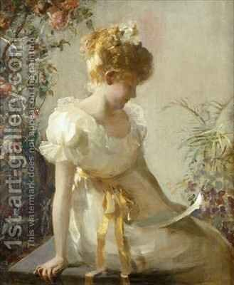 The Love Letter by Jessie Elliot Gorst - Reproduction Oil Painting