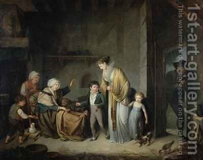 The Lesson in Charity by Henri Nicolas van Gorp - Reproduction Oil Painting
