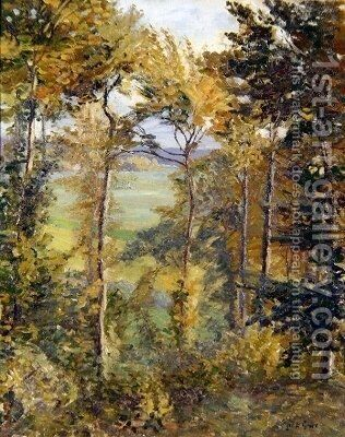 Wooded Landscape at Tibermont Neuville Les Dieppes by Spencer Frederick Gore - Reproduction Oil Painting