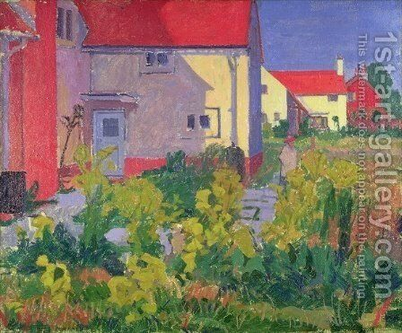 Harold Gilmans House at Letchworth by Spencer Frederick Gore - Reproduction Oil Painting