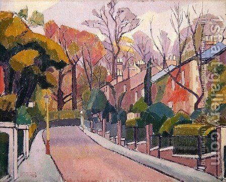 Cambrian Road Richmond by Spencer Frederick Gore - Reproduction Oil Painting