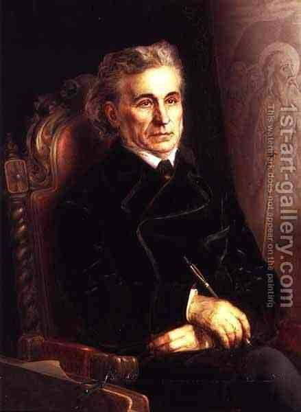 Portrait of Fjodor Bruni 1799-1875 by Apollinariy Gilyarevich Goravsky - Reproduction Oil Painting