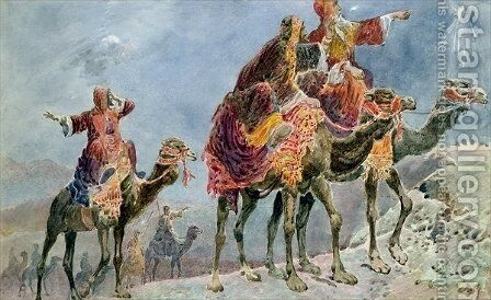 Three Wise Men by Sydney Goodwin - Reproduction Oil Painting