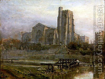 The Old Church at Sunrise by Harry Goodwin - Reproduction Oil Painting