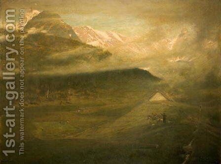 Sermon in the Hayfield Simplon by Albert Goodwin - Reproduction Oil Painting