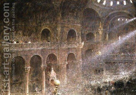 St Marks Basilica Venice from the gallery by Albert Goodwin - Reproduction Oil Painting
