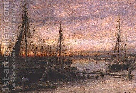 Rye Port Sussex by Albert Goodwin - Reproduction Oil Painting