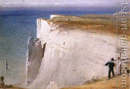The Coastguards Story Beachy Head by Albert Goodwin - Reproduction Oil Painting