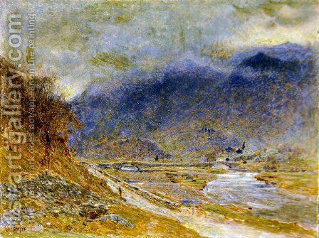 Mountain Mist by Albert Goodwin - Reproduction Oil Painting